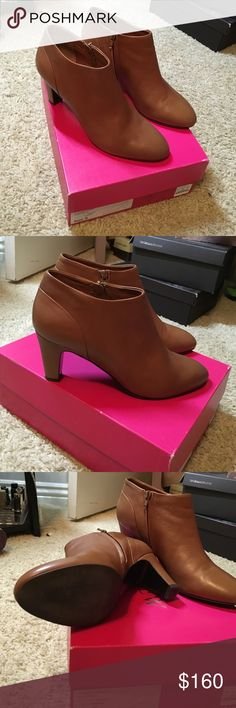 """J. Crew Cadogan leather ankle boots Worn 1-2 times. Absolutely excellent condition, comes with box. Beautiful """"toffee"""" color with mid heel (3""""). No trades, questions & offers welcome  J. Crew Shoes Ankle Boots & Booties"""