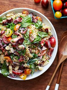 This pasta salad takes everything you love about that classic sandwich, then folds it into a summery side that's sure to be a hit at your next potluck.