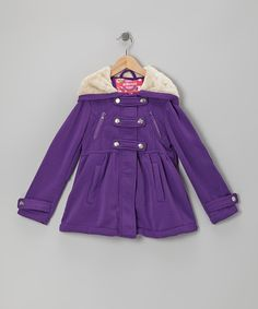 Take a look at this Purple Snap-Front Hooded Jacket - Toddler & Girls on zulily today!