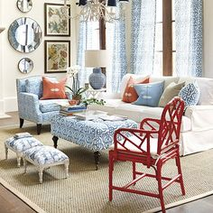 Mixing fine rattan like our Macau Arm Chair with more traditional pieces adds a casual, sophisticated note. Shop Ballard Designs today.