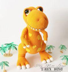 Merhabalar Dostlar,  Bugün ilk kez denediğim bir modelle buradayım.  Uzun zamandır amigurumi oyuncaklar örüyorum ama hiç dinozor örmemişt...