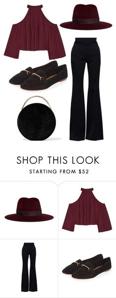 """Untitled #516"" by farrahaqs on Polyvore featuring Janessa Leone, W118 by Walter Baker, Alexander McQueen, Topshop and Eddie Borgo"
