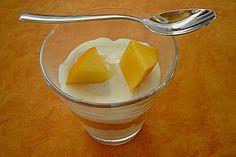 Yogurt Mousse Recipe in German |Kaki - Joghurt - Mousse, yogurt, gelatin, lemon, vanilla sugar, sugar, whipping cream