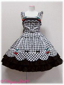 Berry-chan JSK by Angelic Pretty Frocks For Girls, Kids Frocks, Kids Outfits Girls, Little Girl Dresses, Girl Outfits, Girls Frock Design, Baby Dress Design, Toddler Fashion, Kids Fashion