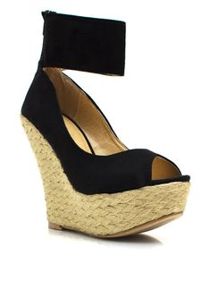 ankle strap espadrille wedges-Go Jane