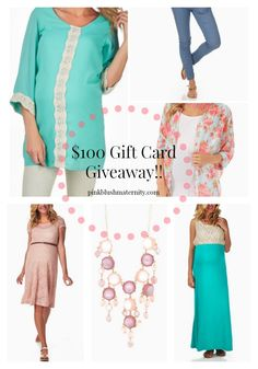 $100 Gift Card to PinkBlush Maternity on sweettreatsmore.com