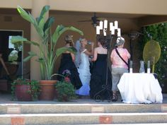 Very HOT day - we had fans placed under the Head Table for the Bride!!!