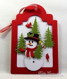 Snowman Tag by kittie747 - Cards and Paper Crafts at Splitcoaststampers