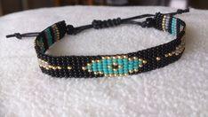 Loom beaded bracelet EYE por Suusjabeads en Etsy