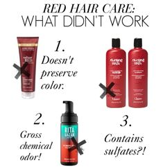 Products that didn't help maintain red hair color