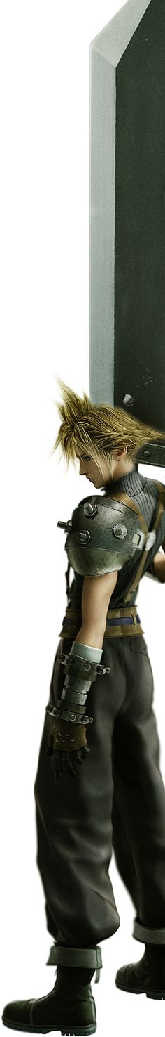 Cloud - SOLDIER First Class: Final Fantasy VII. Don't play the games, but this is so cool!