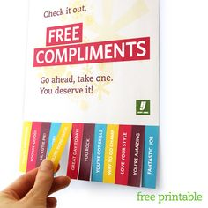 free compliments. use yearbook color scheme when advertising the yearbook.