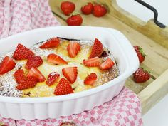 ᐅ Quark-Grieß-Auflauf mit Erdbeeren I Christinas Fitlife - Rezepte
