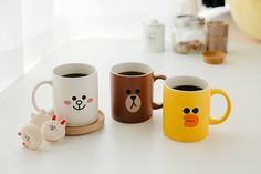 LINE FRIENDS Character 2 Faces Ceramic Mug Cup Season 1 3 Types BROWN SALLY CONY #LINEFRIENDS