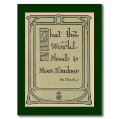 World Kindness Roycroft Vintage Motto Postcard