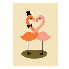 Flamingo Card: Valentine's Day Cards