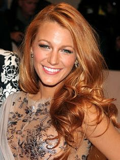 Blake Lively ~ Strawberry Blonde Hair Color