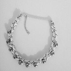 Onlychic_jewelry#statementnecklace#handmadejewelry#handmadenecklace#handmadeforsale#fashionjewelry#fashionnecklace#cordnecklace#blackwhite#modernist#ogrlica#crnobijelisvijet#nakit