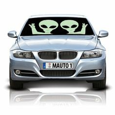 Aliens Double-Sided Car Sunshade. Available on RoswellBoutique.com