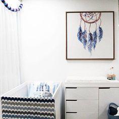 Boho inspired nursery gender neutral- designed by Bright Kids Interiors