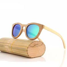 Wooden Bamboo Polarised Sunglasses