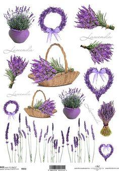 Decoupage Glue, Paper Napkins For Decoupage, Decoupage Vintage, Lavender Crafts, Lavender Flowers, Lavander, Diy And Crafts, Paper Crafts, Floral Vintage