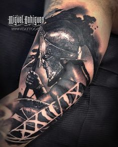 """""""I am not afraid of a lion army led by a sheep, I am afraid of … - Pinkings. Zues Tattoo, Helm Tattoo, Armor Tattoo, Baby Tattoos, Life Tattoos, Body Art Tattoos, Tattoos For Guys, Cool Tattoos, Warrior Tattoo Sleeve"""
