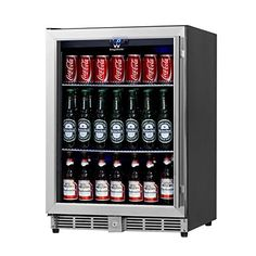 KingsBottle 160 Can Beverage Cooler Stainless Steel With Glass Door ** For  More Information, · Beverage RefrigeratorCompact ...