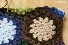 how to make a straight edge on a hexagon blanket. #crochet #hexagons #blanket #polkadotcottage