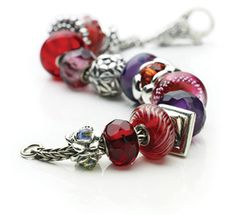 Trollbeads- Love these colors for Valentines day.  Yummy! #TrollbeadsWorldTour