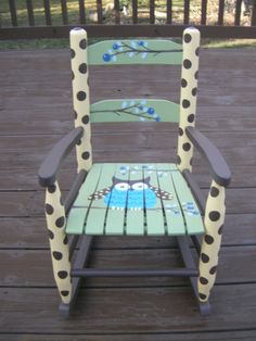 Child's Owl Rocker.