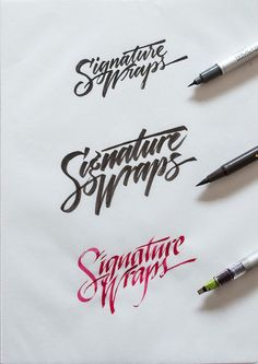 Calligraphy & Lettering Collection 2014 on Typography Served