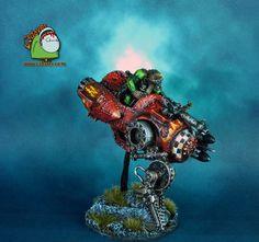 Space Orks Evil Sunz Mek on deff-jetbike