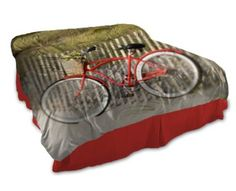 bicycle duvet cover - Custom Photo Bedding