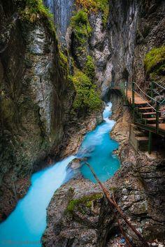 Leutasch Klamm Gorge, Bavaria, Germany.