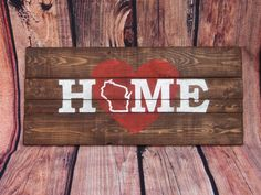 Custom personalized rustic shabby chic HOME state by ShamShack