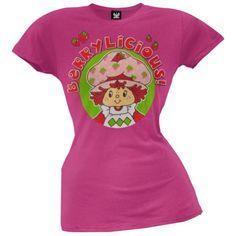 Strawberry Shortcake - Berrylicious Juniors T-Shirt, Girl's, Size: Large, Pink