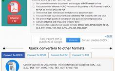 Convertire facilmente epub in pdf o epub in doc tutto online #epub #pdf #doc