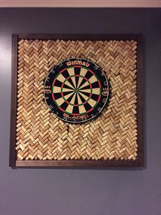 Wine cork board for dart board
