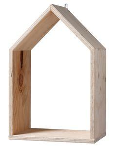 Muurkastje Huisje blankhout L