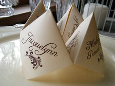 Origami Wedding Programs! Awesome! @Tricia Brinks