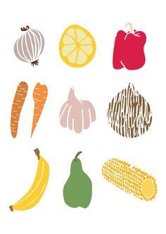 Fruit & Veg Illustrations for the NHS. #illustration #cullimore
