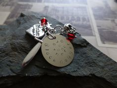 Handmade stamped Keychain or keyring Inspired by by lauriebale, £4.00
