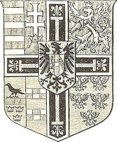 New Coat of Arms from 1896 of Archduke Eugen of Austria-Teschen (1863-1954), Grand Master of the Teutonic Order.
