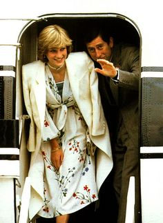 August 1, 1981: Prince Charles & Princess Diana arrive in Gibraltar to a tumultuous welcome to board the Royal Yacht Britannia at the beginning of their honeymoon cruise.