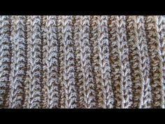 Πλέξιμο - Εγγλέζικο λάστιχο vs Λάστιχο του Ψαρά - YouTube I Cord, Knit Crochet, Stitch, Knitting, Rugs, Crafts, Hat Patterns, Youtube, Scarves