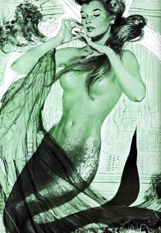 vintage mermaid.