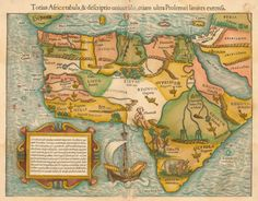 Map of Africa, 1554