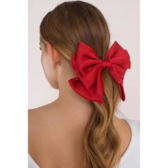 Tobi Tis The Season Bow Tie Hair Clip (225 ARS) ❤ liked on Polyvore featuring accessories, hair accessories, red, barrette hair clip, hair clip accessories, red hair accessories and red hair clips