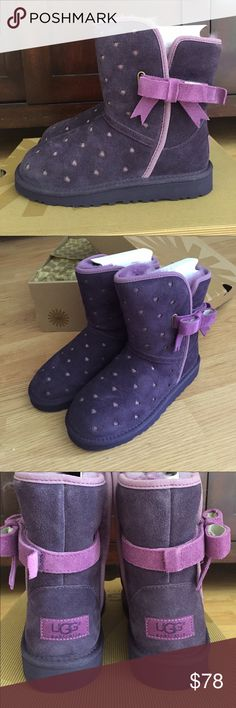 UGG Australia boots So adorable, have not been worn. My daughter grew out of them before she could wear them. Brand new in original box. UGG Shoes Winter & Rain Boots